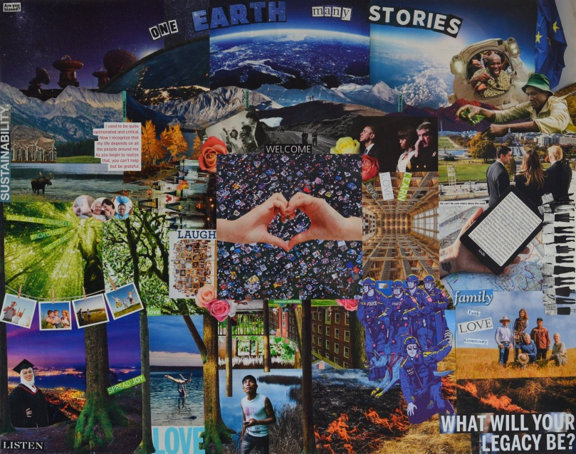 Sarah Koss - One Earth Many Stories Collage
